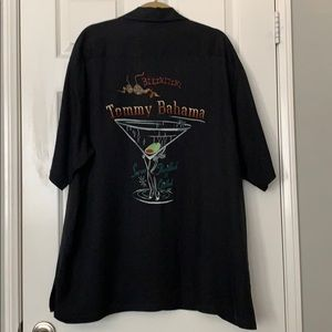 Tommy Bahama Men's Black BIKINITINI Camp Shirt